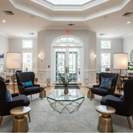 Lobby at Heritage at The Merrimack apartments in Bedford, NH
