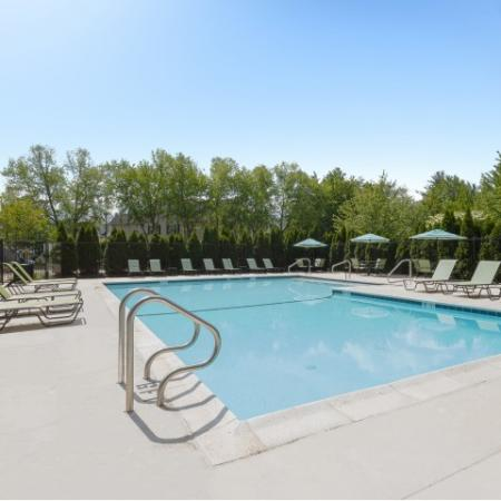 Pool at Heritage at The Merrimack apartments in Bedford, NH
