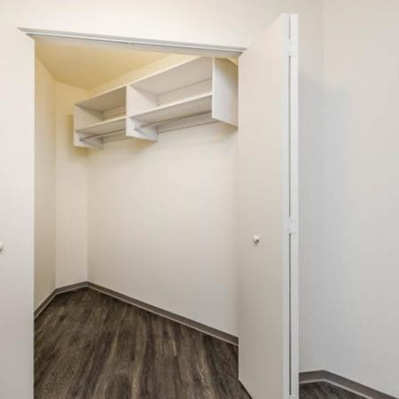 Apartment with walk in closet