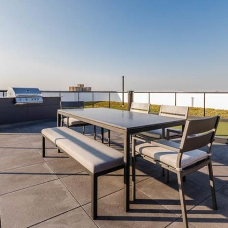 Roof top deck with grill and seating
