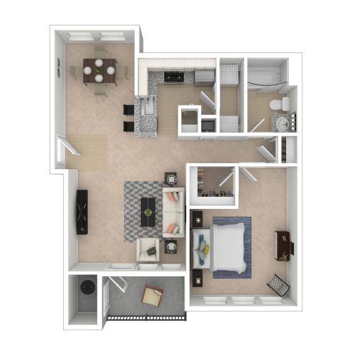Elm 1Bed/1Bath