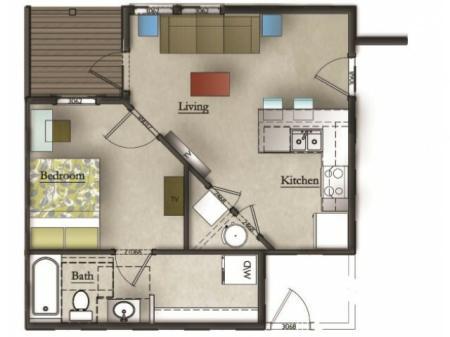 1 Bedroom Flat- Large