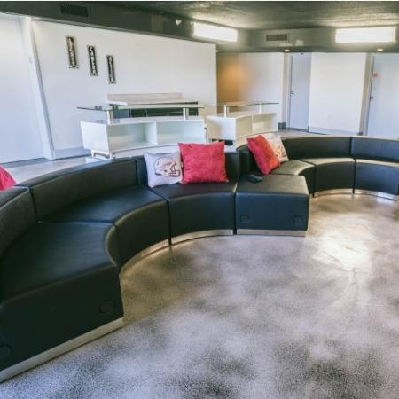 The Renegade, interior, tv room, common room, sofa and hammock seating
