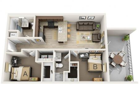 Two Bedroom - B