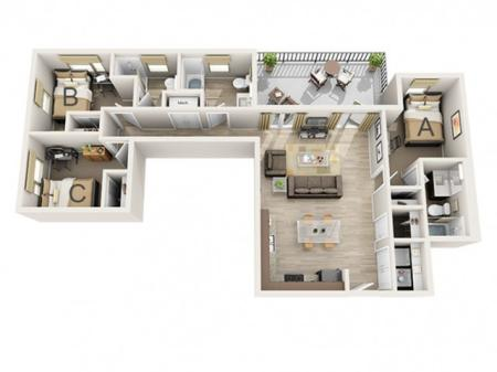 Three Bedroom - A