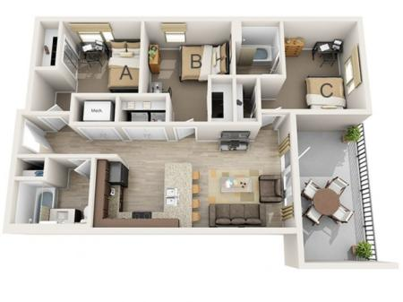 Three Bedroom - C