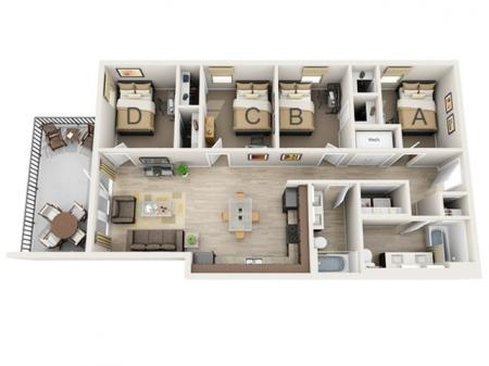 Four Bedroom - B