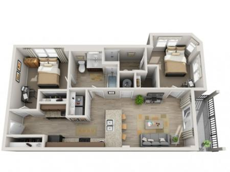 Two Bedroom- A