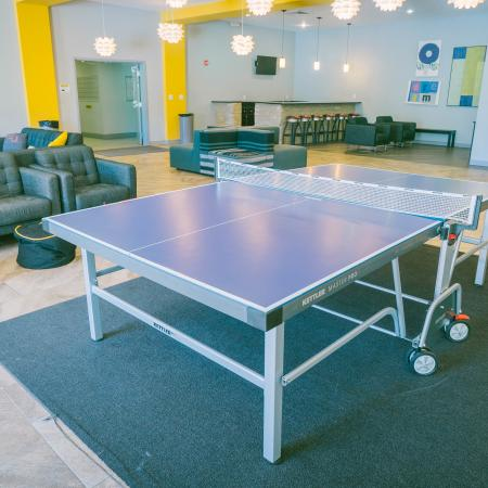 The Osceola, interior, table tennis, common room, seating, tvs