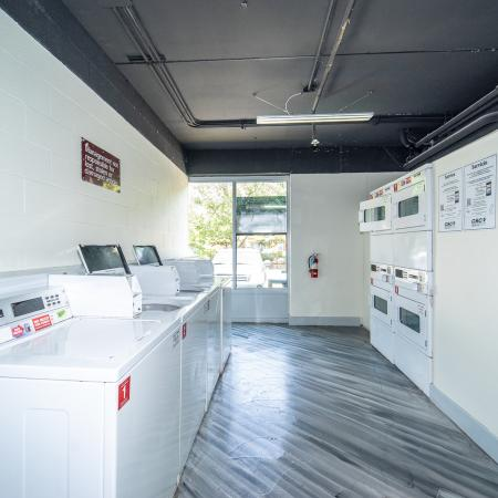 The Renegade, interior, laundry room, washers, dryers,