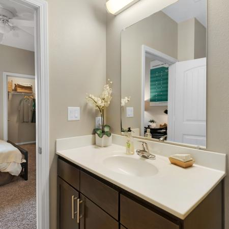 College Vue Apartment Bathroom