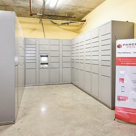 Digital package lockers for 24/7 package pick up