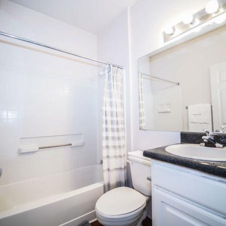 The Osceola, interior, bathroom, white, shower/tub