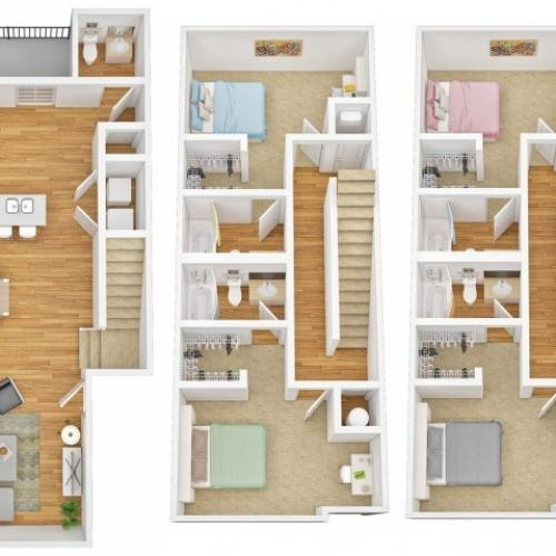 Four Bedroom Four Bathroom Townhome B - Waitlist Only