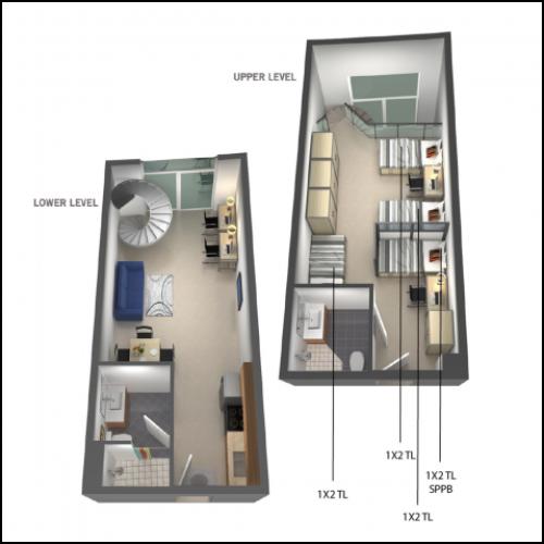1x2- triple loft
