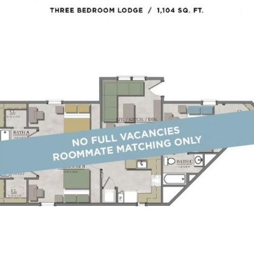 3 bedroom lodge