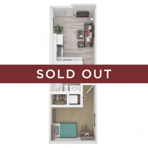 One Bedroom / One Bathroom G - sold out