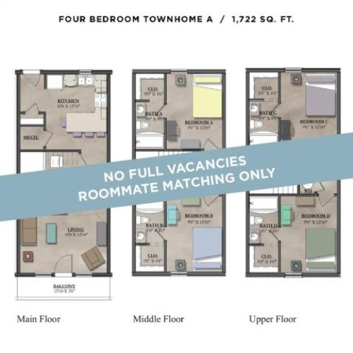4x4 Townhome A