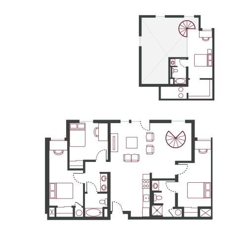 4BR/3BA - Loft w/ Balcony Type 4