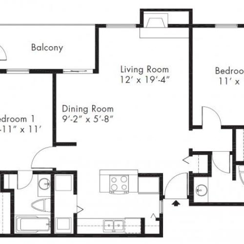 1 Bed / 1 Bath Apartment In MIDLAND TX