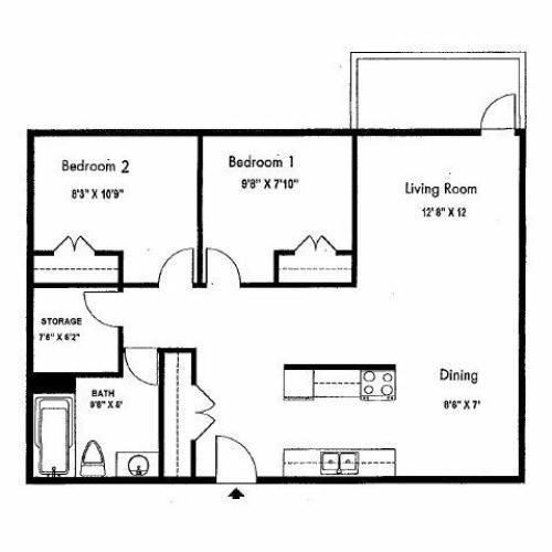 Wyndham Apartments: 2 Bed / 1 Bath Apartment In Edmonton AB
