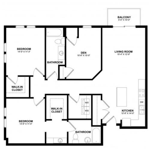 Covington 2 bedroom den C