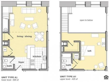 1 Bedroom Unit A1