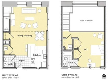 1 Bedroom Unit A2