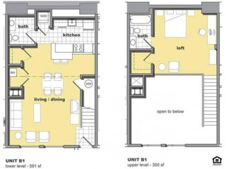 1 Bedroom Unit B1