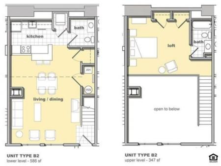 1 Bedroom Unit B2