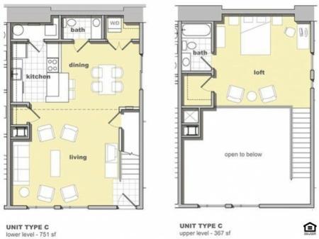 1 Bedroom Unit C