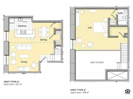 1 Bedroom Unit E