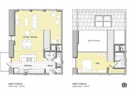 1 Bedroom Unit H