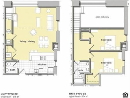 2 Bedroom Unit D2