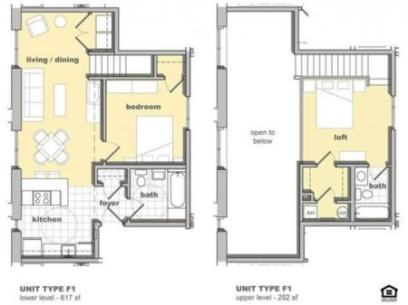 2 Bedroom Unit F1