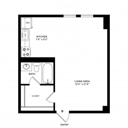Studio Standard Floorplan