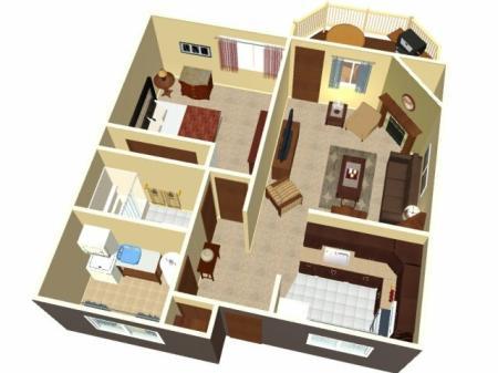 Greenhill Apartments Kalamazoo Redwood Floor Plans