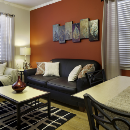 Living Area | Apartments near Haskell Indian Nation University