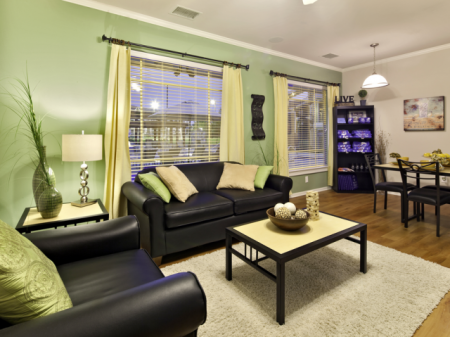 Living Area | Haskell Indian Nation University Student Apartments