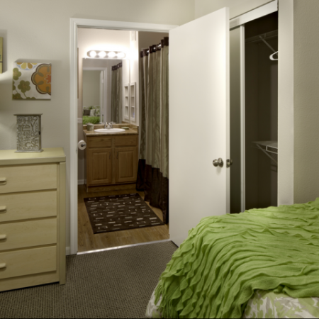Bedroom | Haskell Indian Nation University Off-Campus Apartments