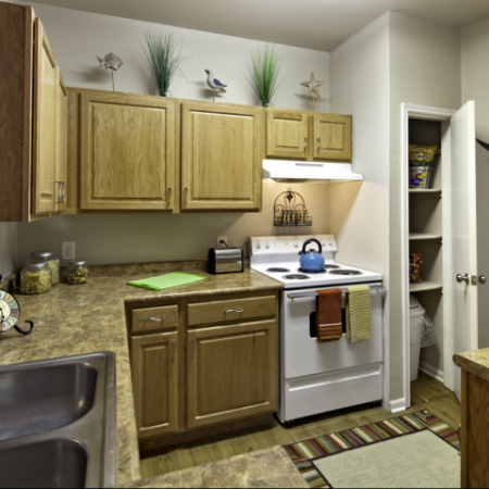 Kitchen | Furnished Apartments near Haskell Indian Nation University