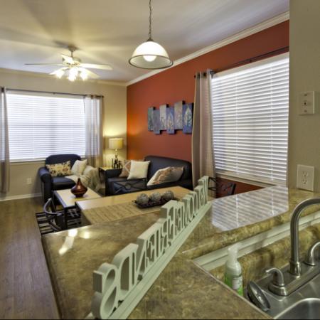 Living Area | Furnished Apartments University of Kansas
