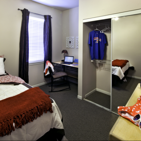 Furnished Bedroom | Haskell Indian Nation University Off-Campus Housing