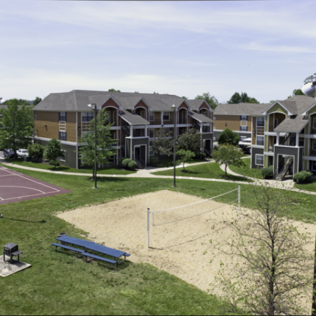 Volleyball Court | Student Housing near University of Kansas