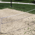 The net on the sand volleyball court at The Reserve on West 31st