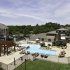 The hot tub, swimming pool and sundeck at The Reserve on West 31st
