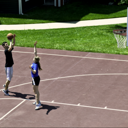 Basketball Court | Student Apartments near University of Kansas