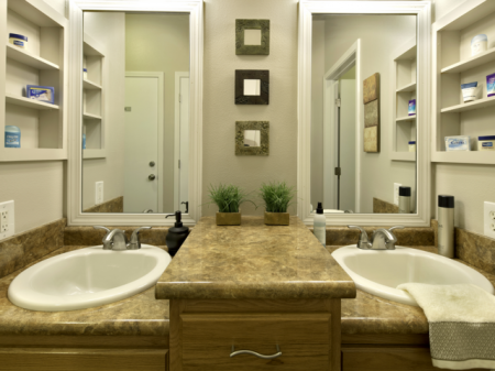 Shared Bathroom | Haskell Indian Nation University Student Housing