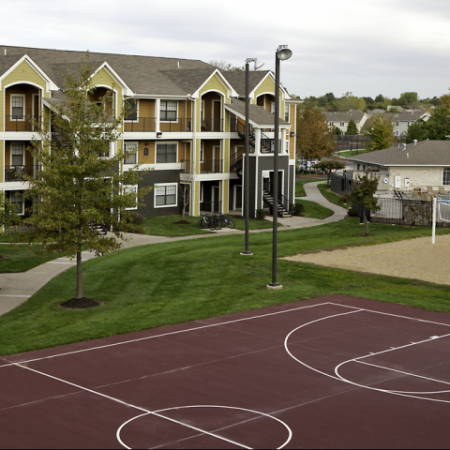 Basketball Court | Student Apartments in Lawrence