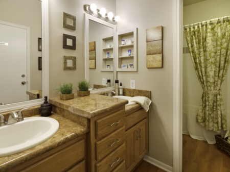 Bathroom | Haskell Indian Nation University Off-Campus Apartments